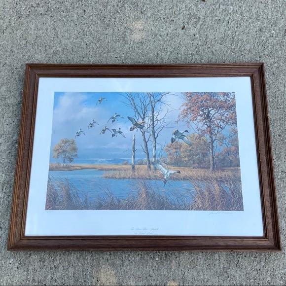 Vintage Other - VTG David Maass River Flats Pintails ducks signed